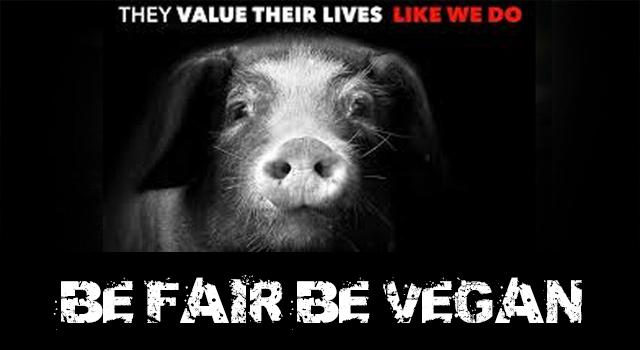 be fair be vegan