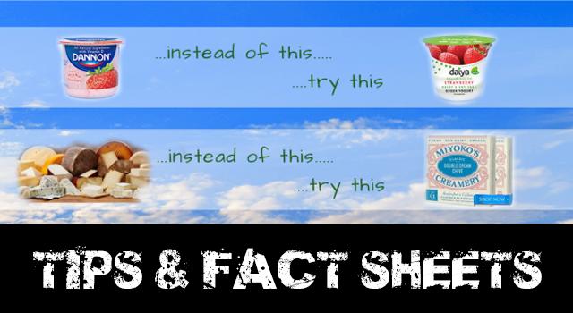 vegan tips and fact sheets